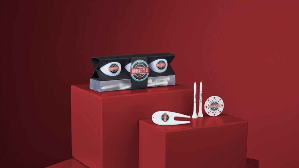 Image of branded merchandise gold gift set