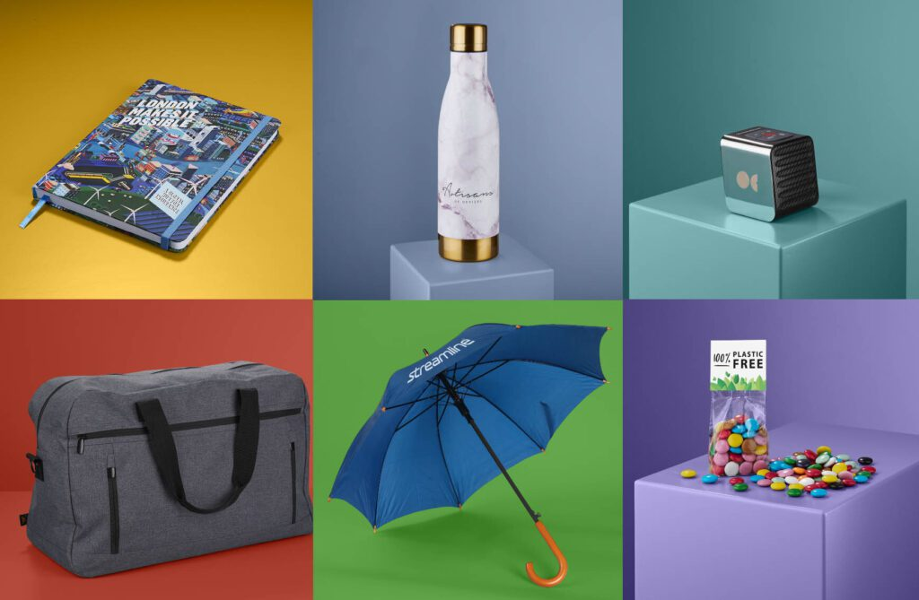 Selection of promotional items