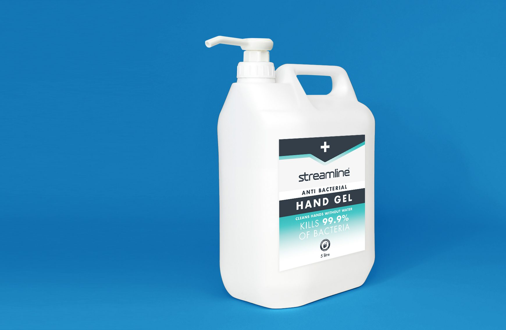 5l hand sanitiser tub with pump action nozzle