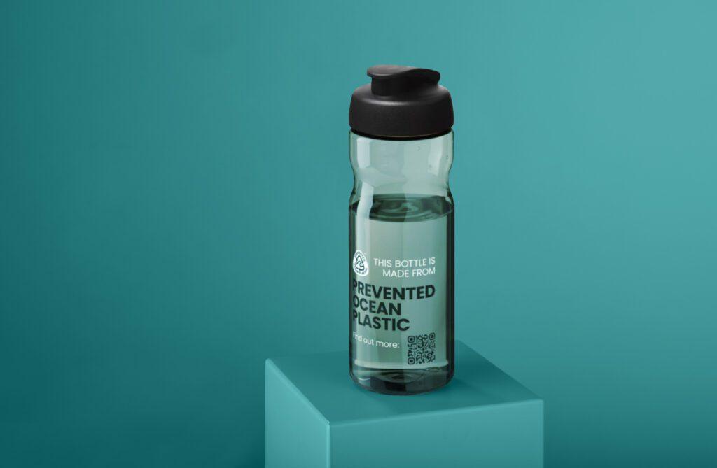 Innovative branded merchandise bottle