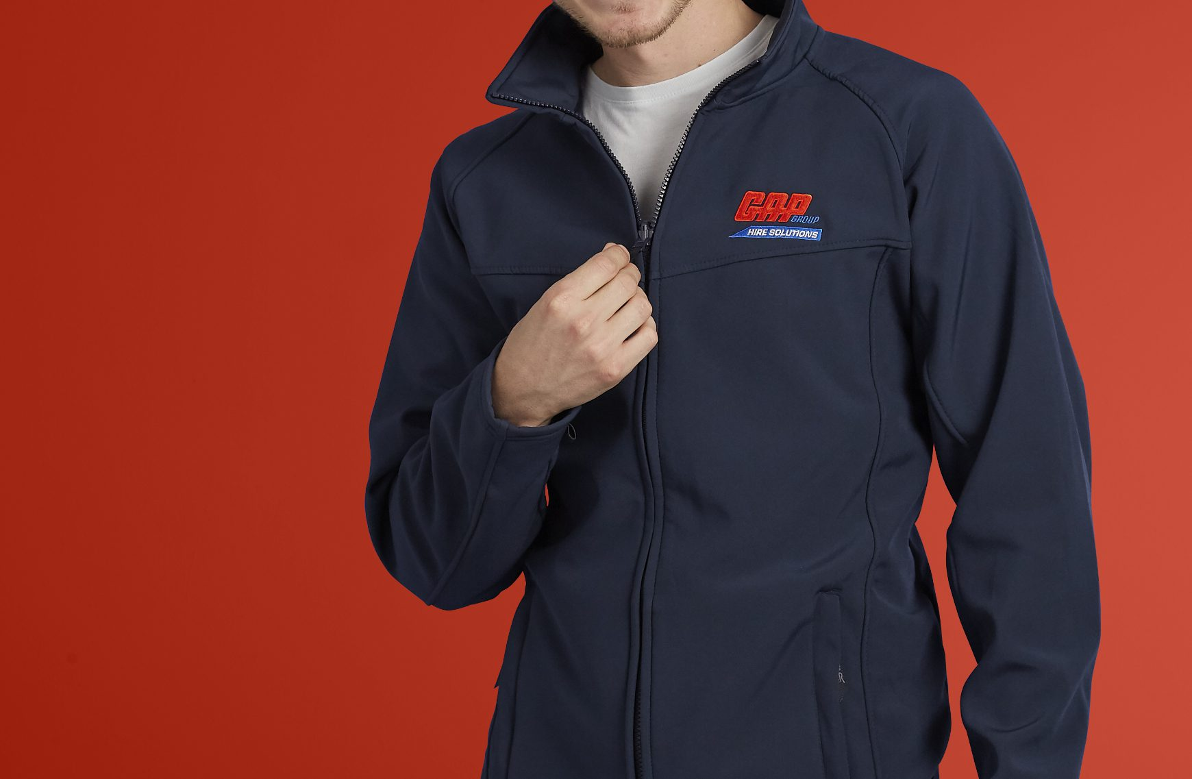 Image of man wearing company branded workwear