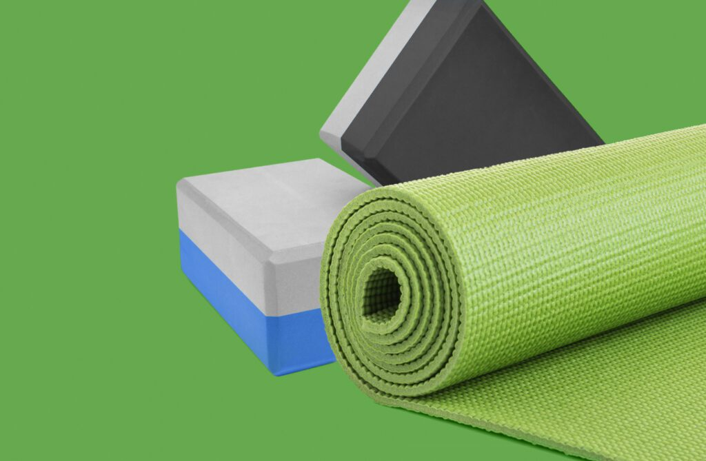 Image of a wellbeing gift pack for staff yoga set