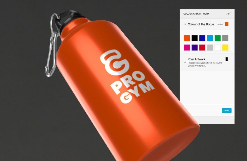 Image of branded water bottle