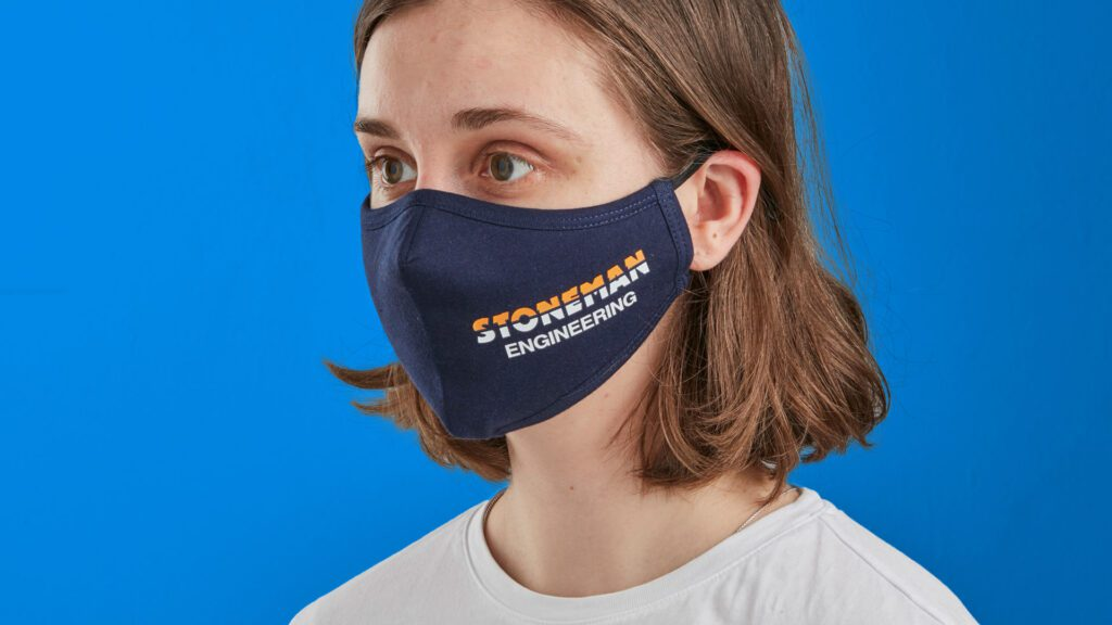branded 2-ply face mask