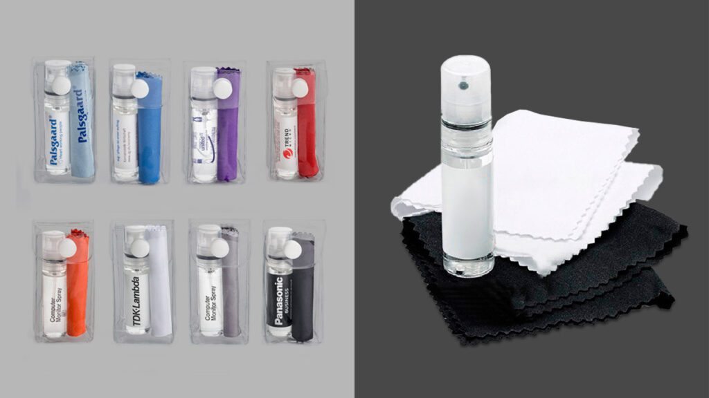 2PC Glasses and Screen Cleaning Pocket-Sized Kit