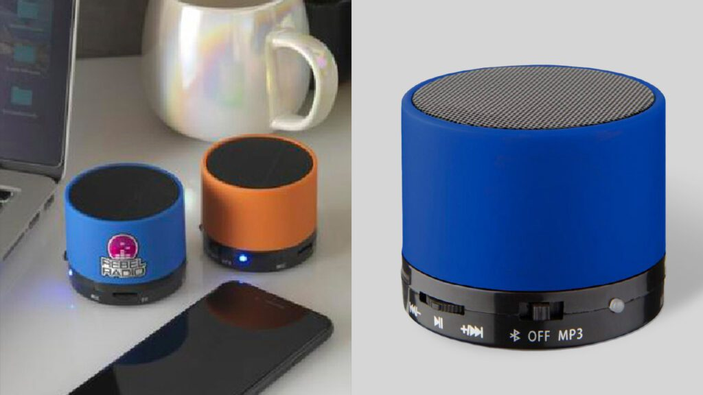 bluetooth speaker with rubber finish
