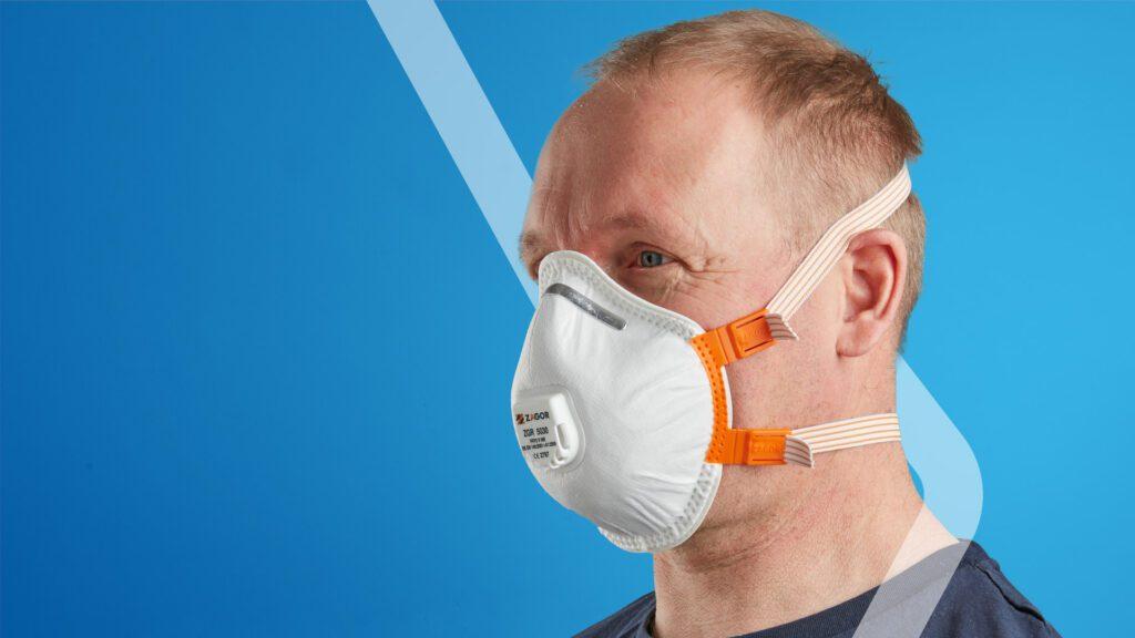FFP2 valved moulded mask