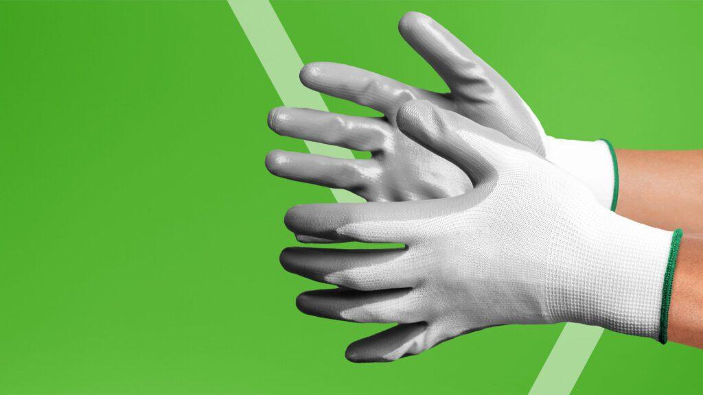 PU palm work gloves