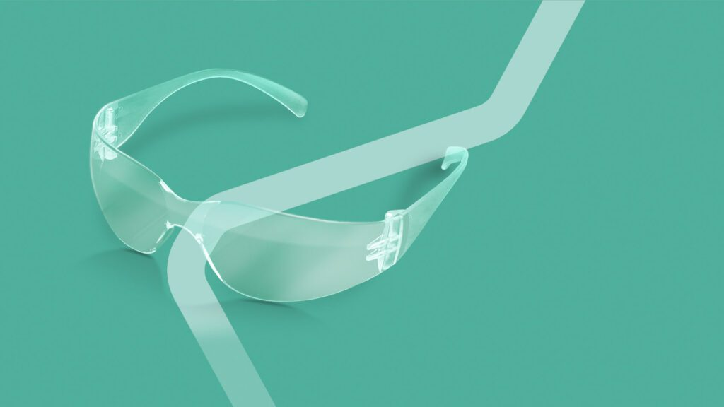wrap around safety spectacles