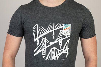 Forth Bridges Grey Tshirt