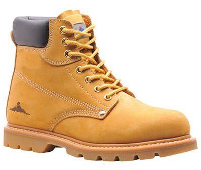 portwest steelite welted safety boots honey